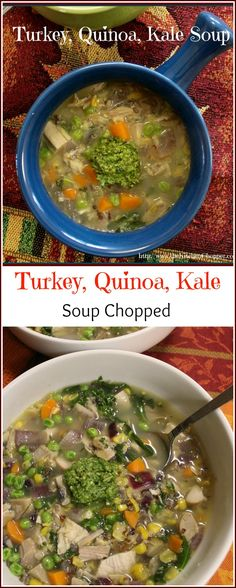 Turkey Quinoa Kale Soup Chopped The Kitchen Chopper