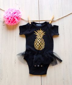 Pineapple Newborn Infant Tutu Onesie Bodysuit by ICaughtTheSun