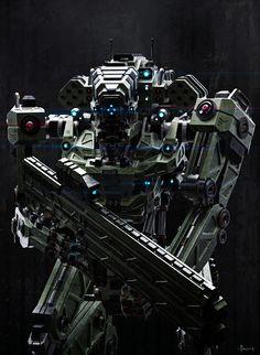 """spassundspiele: """" Hammer – sci-fi mech concept by Riyahd Cassiem """""""