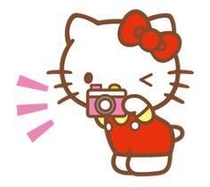 Hello Kitty (Happy Days篇) - 許願貓 LINE 貼圖 - wish.cat2.me
