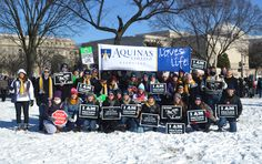 In addition to attending the March for Life every year, Aquinas College sponsors both the Nashville and Tennessee Right to Life Oratory Contests on campus. #ProLife #MarchforLife
