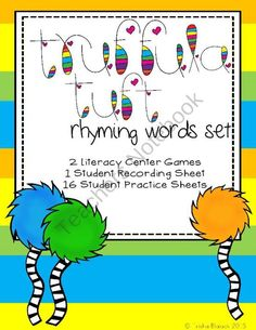 Truffula Tuft Rhyming Word Literacy Center Set product from TrishaB on TeachersNotebook.com