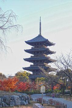 Kyoto of sunset (夕焼けの東寺:五重塔)