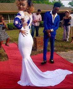 Lace Prom Dress,Mermaid Prom Dress,Long Sleeve Prom Dress,Fashion