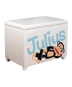 I love PF! Take a look at this White 'Julius' Toy Box by Paul Frank on #zulily today!