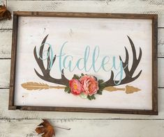 A personal favorite from my Etsy shop https://www.etsy.com/listing/474092428/rustic-large-nursery-baby-name-arrow-and