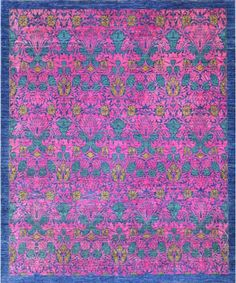 "Transitional Afghani Wool Rug M-069-Design# 215, Size- 8'-0"" X 10'-0"""