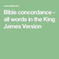king harry scriptures concordence