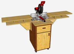 Simply Easy DIY: DIY: Mobile Fold Down Miter Saw Station