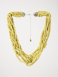 Plaited bead necklac
