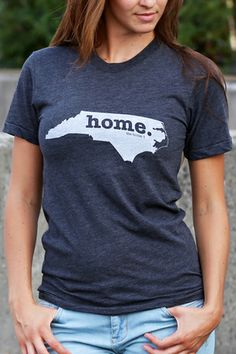 North Carolina Home T-shirt - Great gift for those leaving home or as a welcome to those newly arrived.