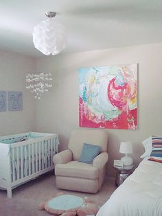Nursery Layout with a twin bed in it