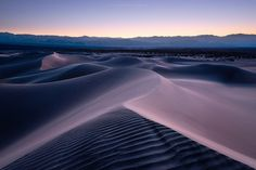 """Deserttwilight - """"Deserttwilight"""" - Death Valley  Death Valley Dunes gently veiled in a blue hour mood. The simplicity and tranquility emanating by a desert is what me lures into this apparently hostile climate. There is a deep connection between nature and humans if you are getting into it.  Prints and licensing available.  <a href=""""https://www.facebook.com/StefanHefelePhotography"""">Facebook Fan Site</a>  <a href=""""http://www.stefan-hefele.de/en/news.html"""">www.stefan-hefele.de</a>"""
