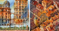 Surreal Watercolor Paintings Of Warsaw By Tytus Brzozowski   Bored Panda