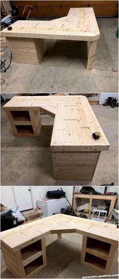 Diy Wood Pallet Corner Cabinet - June 08 2019 at Diy Wood Pallet, Diy Wood Desk, Pallet Desk, Wood Pallet Tables, Wooden Pallet Projects, Wooden Pallet Furniture, Wooden Diy, Wood Pallets, Small Pallet