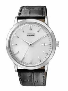 Shop for Citizen Men's Stainless Steel Eco-Drive Date Watch. Get free delivery On EVERYTHING* Overstock - Your Online Watches Store! Army Watches, Cool Watches, Watches For Men, Citizen Watches, Amazing Watches, Stylish Watches, Luxury Watches, Black Leather Bracelet, Hand Watch