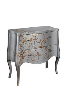 Coast to Coast  Two Drawer Chest - Rosser Silver and Gold