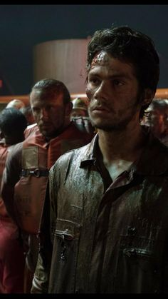 Dylan O'Brien and James Rawlings in Deepwater Horizon