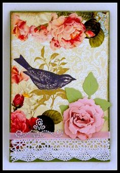 Wing and Flowers - using @Spellbinders and @Want2Scrap by Linda Lucas
