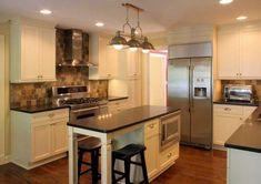 Kitchen Island Narrow #8 - Long Narrow Kitchen Design Ideas