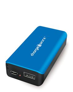 Chargeworx Blue 4000mAh Pre-Charged Power Bank