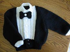 tuxedo style sweater