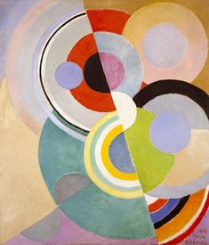 Sonia Delaunay, Rythme Coloré 1946, in The Art and Fashion of Sonia Delaunay at the Cooper-Hewitt