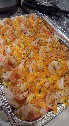 Shirmp crab macaroni and cheese