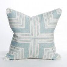 Laguna Beach Collection Blue Glass Pillow