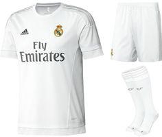 a1037cfb3 adidas Boys Kids Real Madrid Full Football Kit 2015   2016 Gift Set New  Boxed