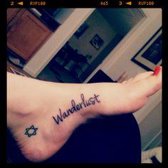 """""""Wanderlust"""" ; wan·der·lust/ˈwändərˌləst/Noun: A strong desire to travel and wander. """"A woman consumed by wanderlust"""