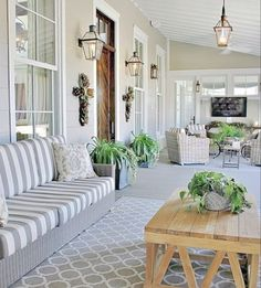 Southern Style Decorating Ideas from Southern Living southern home decorating ideas Southern Home Decorating, Southern Living Homes, Porch Decorating, Patio Decorating Ideas On A Budget, Decorating Blogs, Outdoor Rooms, Outdoor Living, Outdoor Decor, Design Living Room