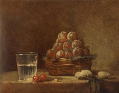 Basket of Plums - Jean-Baptiste-Simeon Chardin - WikiArt.org