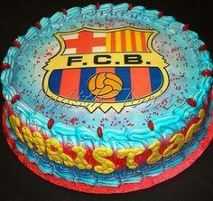 Este diseño ideal para los fanaticos del equipo Barcelona. Decoración con merengue.