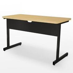 """Adjustable Height Computer Table 30"""" x 36"""" Fusion Maple/Black by Abco. $298.00. Abco New Medley collection adjustable height 30''x36'' computer table is constructed with a 11/4'' highpressure laminate top, 3mm edge band, and a steel base with scratchresistant powder coat paint.Table features legs that adjust in 1'' increments from 24''32''H. Colormatched 3mm edging prevents chipping and marring of work surface edges. Adjustable leveling glides keep table steady on uneve..."""