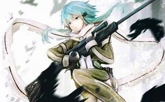 Sinon Asada Shino Sword Art Online 2 Girl Anime 1920×1200