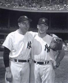 Mickey Mantle And Joe Dimaggio Go Yankees, New York Yankees Baseball, Cardinals Baseball, Famous Baseball Players, Mlb Players, Joe Dimaggio, Yankee Stadium, Shea Stadium, Stadium Tour