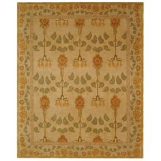 @Overstock.com.com - Handmade Ancestral Tree Ivory/ Green Wool Rug (8' x 10') - Add a vintage-style accent to your home or office d�cor with this handmade wool rug in ivory and green. Featuring a hand-spun ancestral tree design in wool, this area rug provides an old-world atmosphere to enhance your living room or den.  http://www.overstock.com/Home-Garden/Handmade-Ancestral-Tree-Ivory-Green-Wool-Rug-8-x-10/2564114/product.html?CID=214117 $474.99