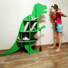 Стеллаж для книг и игрушек ДИНОЗАВР / СВИНОРОГ - Мастерская Детских Улыбок