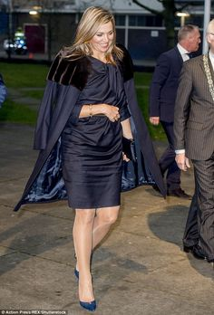 Queen Maxima attended the annual NLGroeit event at the Fokker terminal in The Hague on Jan. 23, 2017