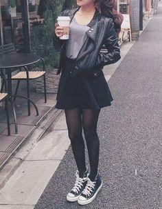 Imagen de fashion, outfit, and black