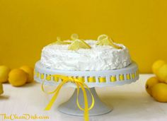 This decadent and exquisite coconut lemon cream cake is grain-free, dairy-free, and refined sugar free. It is Paleo, SCD, and GAPS-friendly while being full of delicious YUM. Paleo Sweets, Gluten Free Sweets, Gluten Free Cakes, Dairy Free Recipes, Delicious Desserts, Dessert Recipes, Lemon Cream Cake, Coconut Cream Frosting, Coconut Flour Recipes