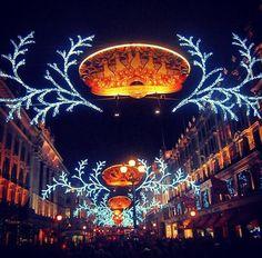 Christmas Lights, Regent Street, London.