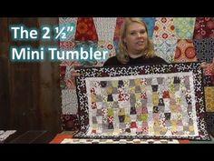 "MSQC tutorial The 2 1/2"" Mini Tumbler Quilting Template!"