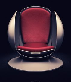 The Sphere by Gregory J Holmes -My favorite type of chairs/sectionals create a cove Funky Furniture, Unique Furniture, Furniture Design, Cheap Modular Homes, Pod Chair, Cat Toilet, Futuristic Furniture, Cool Chairs, Simple House