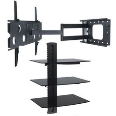 Tv Wall Mount Bracket, Wall Mounted Tv, Tv Wall Mount Designs, Hanging Shelves, Gaming, Home Entertainment, Bookends, Flat Screen, Display