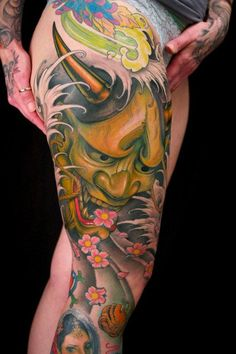 Resultado de imagem para fotos de tatuagens mascaras orientais