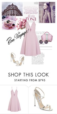 """""""Summer Pink"""" by romihi ❤ liked on Polyvore featuring The Volon, Giambattista Valli and Jimmy Choo"""