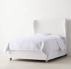 Anais Slipcovered Wing Bed