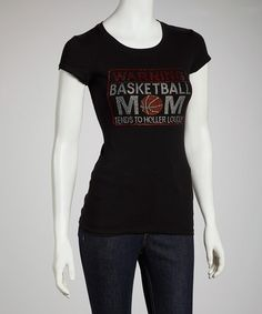 Take a look at this Black 'Warning Basketball Mom' Tee - Women & Plus by Ready Set Sparkle Couture on #zulily today!